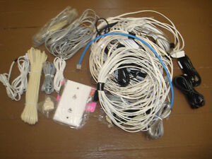 Various telephone cords and extensions