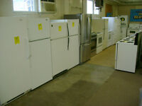 Good selection of fridges with 90 day warranty. $199 and up.