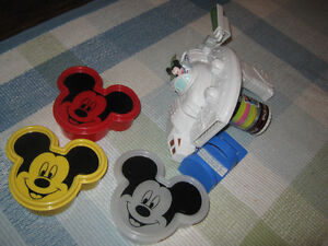 Mickey Mouse Space disc shooter and 3 mickey containers St. John's Newfoundland image 1