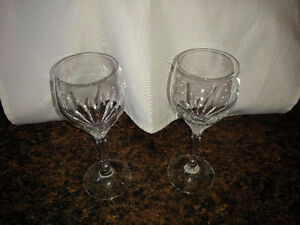 Crystal Glassware - wine glasses & champagne flutes