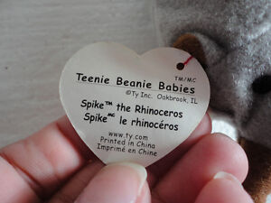 Set of 2 TY Spike the Rhinoceros beanie toy collectible New London Ontario image 3