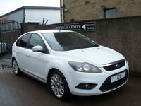 "10 10 REG FORD FOCUS 1.6 ZETEC SPORT 5DR WHITE AIRCON 17"" ALLOYS PRIVACY SPOILER"