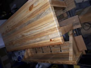 Hand crafted bench and coat hook