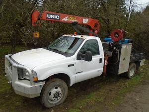 2001 Ford XLT F550 4x4 7.3 Diesel Utility crane welding truck