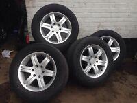 "mitsubishi 18"" Alloy Wheels With Tyres 4x4"