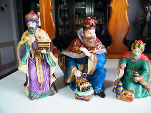 NATIVITY SET KINGS SET OF 3 IN GREAT CONDITION London Ontario image 1