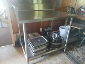 Commercial Stainless working/Prep table with can opener