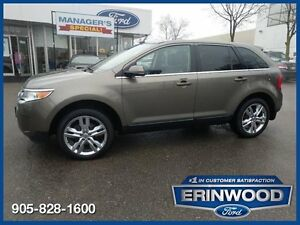 2013 Ford Edge LimitedCPO 24M@1.9%/12MO/20,000KM EXT WARR