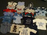 Baby Boys Clothes, 55 pieces, 0-3 months and 3-6 months. £25
