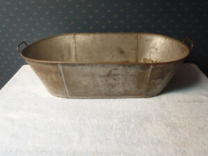 Antique Oval Tin Tub