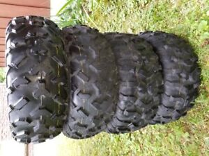 Set of 4 practically New ATV UTV Tires for sale.