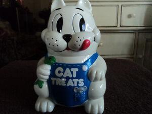 Vintage Cat Treat Dispenser