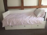 IKEA Hemnes Day-bed (white) and Mattress