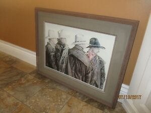 FOUR WRANGLERS  limited edition print by Terry A.Bennett
