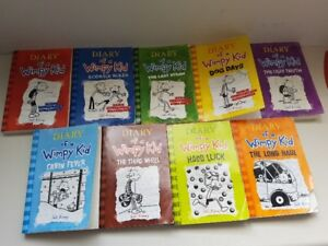 9 Diary of a Wimpy kid books