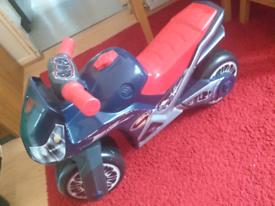 Child's toy motorbike
