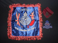 Military RCAF decorative pillow case, handkerchief and patch