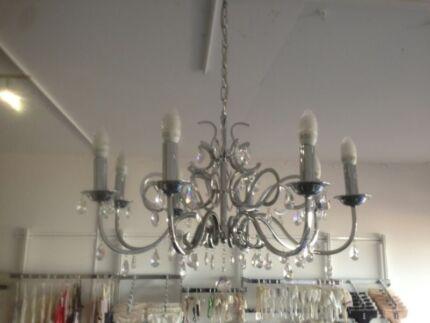 Rustic homemade chandelier (no globes included)   Outdoor Lighting ...