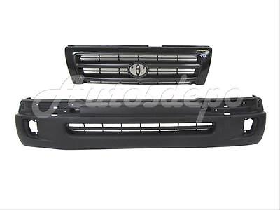 FRONT BUMPER COVER GRILLE DK ARG 2PC For 98-00 TACOMA 2WD PRERUNNER 98-00 4WD 2wd Front Bumper