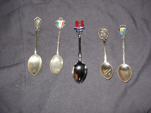 Lot of 25 Vintage 1970's Silverplated & Enameled Souvenir Spoons Belleville Belleville Area image 6