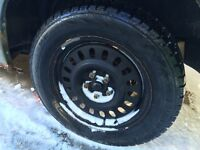 WINTER TIRES FOR QUICK SALE 5x4.25 / 5x108 on 16' rims 500 obo