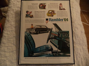 OLD AMC CLASSIC CAR FRAMED ADS Windsor Region Ontario image 6