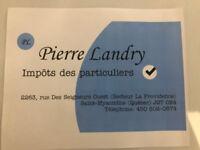Impôts des particuliers - Pierre Landry, Comptable
