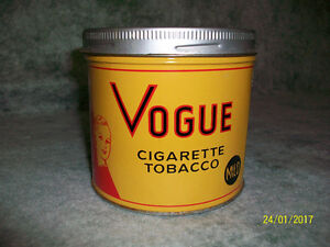Yellow Vogue Tobacco Tin