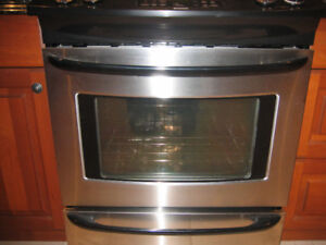 4 Burner glass top kitchen stove