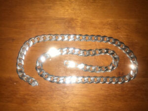 10mm sterling silver Cuban curb 22 inch necklace