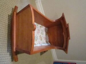 "Vintage Child Doll Rocking Cradle Handmade 17.5"" High Regina Regina Area image 2"