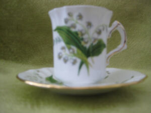 Demitasse, Hammersley, Victorian Lily of the Valley