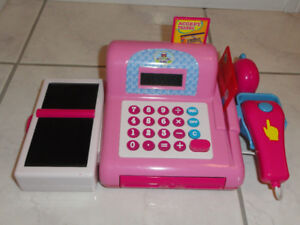 JUST LIKE HOME ELECTRONIC TOY CASH REGISTER