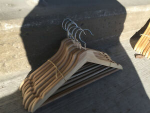 150 Wooden Clothing Hangers - LIKE NEW