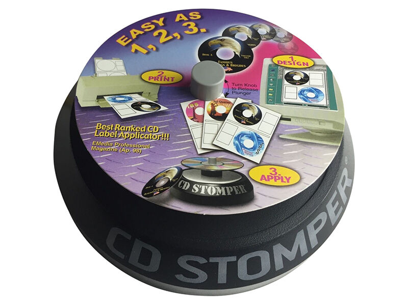 fellowes cd label template - stomper cd and dvd labeling system complete kit 380 labels