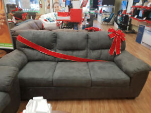 ASHLEY FURNITURE HAVILYN CHARCOAL SOFA BED AND LOVE SEAT