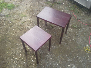 2 cherrywood end tables