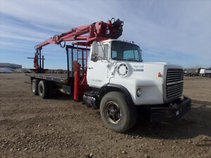 1987 FORD L9000 T/A CRANE TRUCK-UP FOR AUCTION!