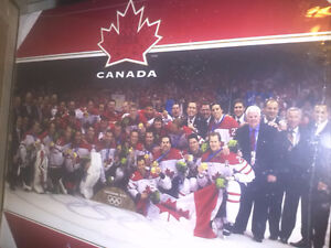 Team Canada 2010 Mens Olympic Hockey Team Poster Plaked New