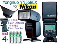 Yongnuo YN-568EX TTL Flash Speedlite for Nikon - Wireless Flash, High Speed Sync + FREE BONUS EXTRAS