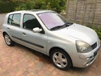 2004 Renault Clio 1.2 16v ( a/c ) Dynamique Full Mot 2 Keys 8 Service Low Miles