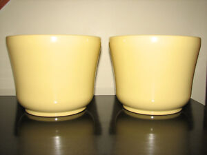Yellow Ceramic Pottery Flower Planters, Made in Germany, NEW, 2