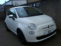10 60 REG FIAT 500 1.2 POP 3DR £30 FOR 1 YEARS TAX LOW INSURANCE RED+WHITE SEATS