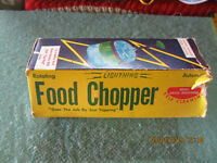 FOOD CHOPPER, NEW NEVER USED. 1970'S