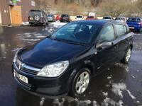 0808 Vauxhall Astra Club 1.4 Black 5 Door 63709mls MOT 12m