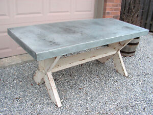6 FT METAL SURFACE TRESTLE TABLE