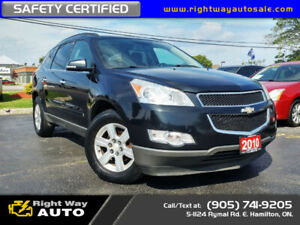 2010 Chevrolet Traverse LT | AWD | 8 PASS | SAFETY CERTIFIED