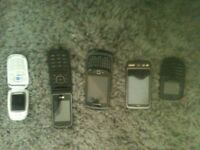 Assorted cell phones