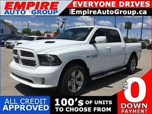 2016 RAM 1500 SPORT * 4WD * LEATHER/CLOTH * NAV * REAR CAM * BLU