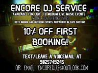 DJ  available! 10% Off first booking + great rates!